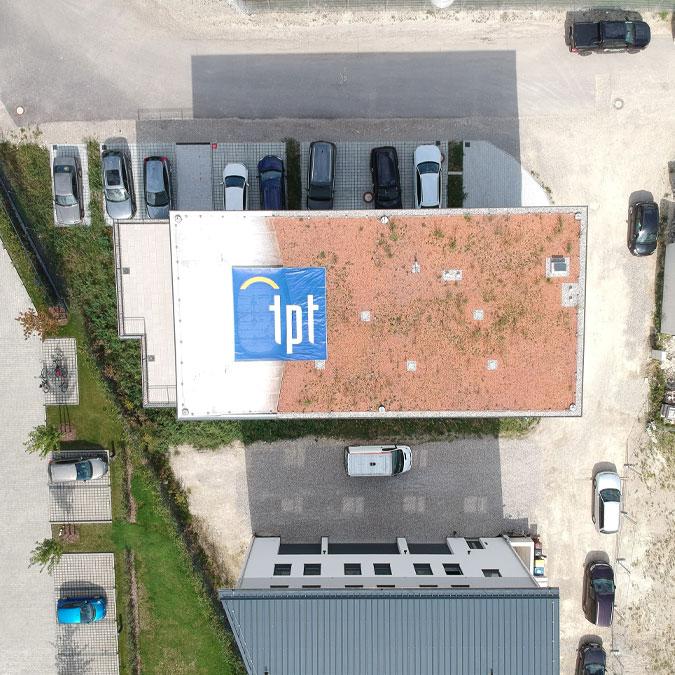TPT Wire Bonder - Wire Bonder - Drahtbonder - Die Bonder Headquarter Hauptsitz Luftaufnahme Aireal view
