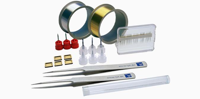 TPT Wire Bonder - Wire Bonder/Drahtbonder Bonddrähte und Bondwerkzeuge / Bond Wire and Bond Tools - H69-1 Starter Kit / Starter Set